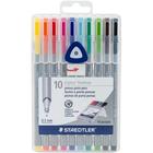 Staedtler Mars . STD Triplus Fineliner Multi-color Pens 10/Pkg
