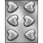 CK Products . CKP Flat Cut Glass Heart Chocolate Mold