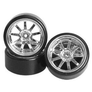 3 Racing . 3RC 1/10 Spoke Silver Wheel & Tire