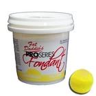 Fat Daddio's  . FAT Yellow Fondant 8oz (Vanilla Flavor)