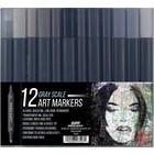 Pro Art . PAT 12 ART MARKER GREY SCALE