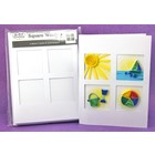 Quilled Creations . QUI Square Window Tri-Fold Cards & Envelopes