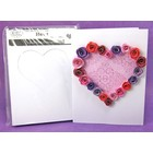 Quilled Creations . QUI Heart Tri-Fold Cards & Envelopes