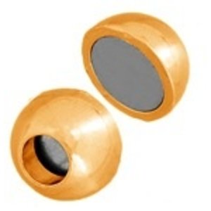 John Bead Corporation . JBC MAGN CLASP BALL 13MM GOLD