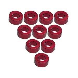 3 Racing . 3RC Alum M3 Flat Washer 2.5mm Red