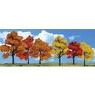 "Woodland Scenics . WOO HARVEST BLAZE TREES 3""- 5"" (6)"
