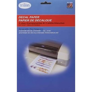 Testors Corp. . TES White & Clear Decal Paper