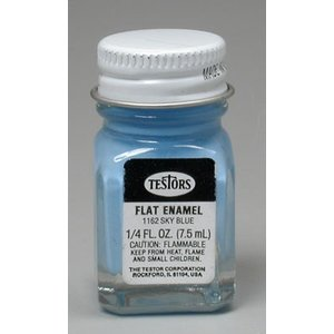Testors Corp. . TES FLAT ENAMEL 1/4OZ SKY BLUE
