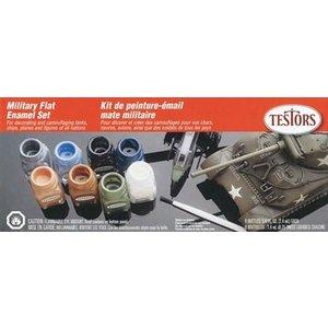 Testors Corp. . TES Enamel Kit: Military Flats