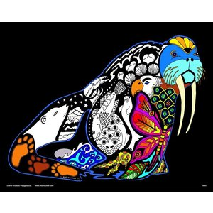 Stuff To Color . SFC 16X20 Velvet Poster Inner Nature Walrus