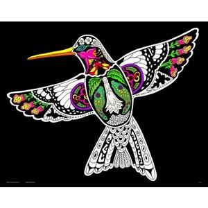 Stuff To Color . SFC 16X20 Velvet Poster Inner Nature Hummingbird