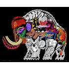 Stuff To Color . SFC 16X20 Velvet Poster Inner Nature Wooly Mammoth