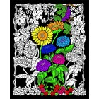 Stuff To Color . SFC 16X20 Velvet Poster Sunflower Garden