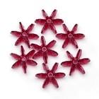 Darice . DAR 18mm Starflake Beads - Ruby