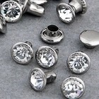 Silver Creek Crafts . SCC JEWEL RIVET 8MM CRYSTAL 24PK