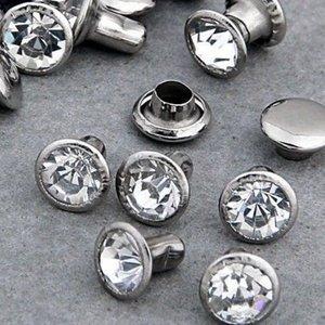 Silver Creek Crafts . SCC Jewel Rivet 8Mm Crystal 24Pk
