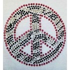 Folk Art . FLK Iron-on Peace Rhinestone Zebra Print