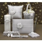 Hortense B. Hewitt Co. . HBH 6PC SATIN W/ROSE SET WHT