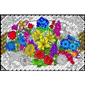 Stuff To Color . SFC Wall Poster Flower Explosion 22 X 32.5