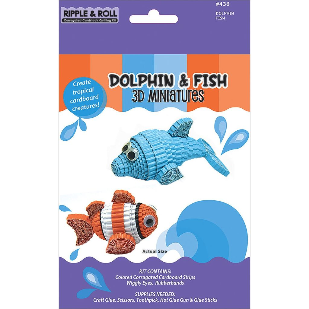 Quilled Creations   QUI Dolphin & Fish 3D Miniatures Kit