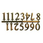 "Walnut Hollow (art supp) . WNH 5/8"""" GOLD CLOCK NUMERAL ARABIC"