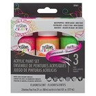 Testors Corp. . TES (DISC)-CRAFT PAINT 3PK FLUORESCE