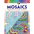 Dover Publishing . DOV Mosaics Design With a Splash of Color - Coloring Book
