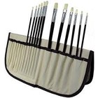 Art Advantage . ART HOG BRISTLE BRUSH SET 12