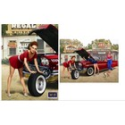 Masterbox Models . MTB 1/24 50'S-60'S PIN UP GIRL LEANING ON TIRE