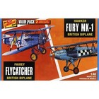Lindberg . LND 1/48 FAIREY FLYCATCHER/HAWKER FURY 2 PACK