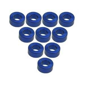 3 Racing . 3RC Alum M3 Flat Washer 2.5mm Blue