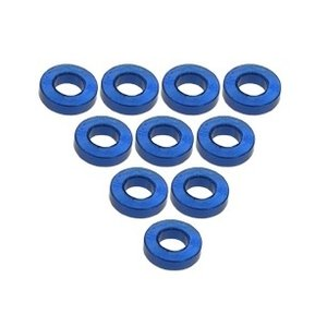 3 Racing . 3RC Alum M3 Flat Washer 1.5mm Blu