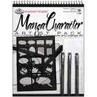 Royal (art supplies) . ROY 2 STENCILS MANGA ART PAD