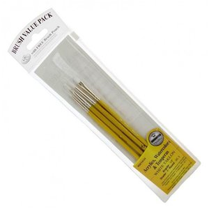 Royal (art supplies) . ROY WHITE TAKLON BRUSH SET 5