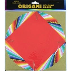 Pro Art . PAT Origami Folding Paper - Assorted Clear Foil - 12 Sheets