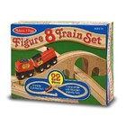 Melissa & Doug . M&D Wooden Figure 8 Train Set