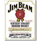 Desperate Enterprises . DPE Jim Beam Kentucky Straight Bourbon Whiskey - Rectangular Tin Sign