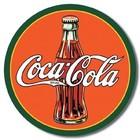 Desperate Enterprises . DPE Coca-Cola - Round Tin Sign
