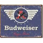Desperate Enterprises . DPE Budweiser 1936 Logo - Rectangular Tin Sign