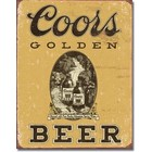 Desperate Enterprises . DPE Coors Golden Beer - Rectangular Tin Sign