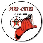 Desperate Enterprises . DPE Fire Chief Gasoline Sign