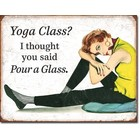 Desperate Enterprises . DPE Yoga Class sign