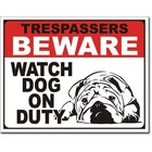 Desperate Enterprises . DPE Tresspassers Beware Sign