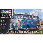 Revell Monogram . RMX 1/24 VW T1 Samba Bus Flower Power