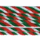 Darice . DAR Chenille Stems - 6mm - Red/White/Green Twist - 10 pieces