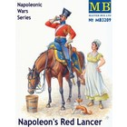 Masterbox Models . MTB 1/32 Napoleon's Red Lancer Mounted on Horse w/Maiden