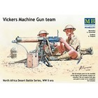 Masterbox Models . MTB 1/35 WWII Vickers Machine Gun Team (4) w/Gun