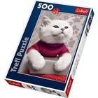 Trefl (puzzles) . TRF Fluff Cat Puzzle 500pc