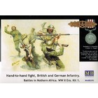 Masterbox Models . MTB 1/35 Hand to Hand Combat British & German Infantry N.Africa WWII