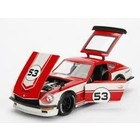 "Jada Toys . JAD JDM Tuners Metals Die Cast"" 1/24 1972 Datsun 240Z - 7527C White and Gloss Red"